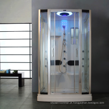 Caminhe na sala de vapor do chuveiro com luz / bandeja de ABS