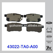 Plaquettes de frein à disque arrière originales au Japon pour l'Accord Accord 43022-TA0-A00
