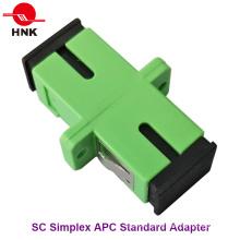 Sc Simplex Singlemode APC Padrão Fibra Óptica Adaptador Plástico