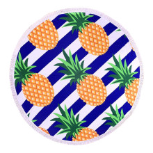 Reliable for Round Beach Towel Bright Fun Colours Fruit Round Beach Use Towel supply to Qatar Factory