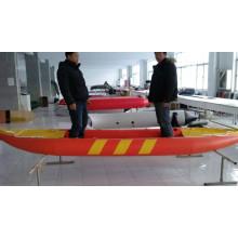 Kayak de pêche gonflable avec pédale