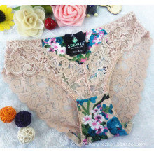 AS-6892 OEM new style wholesale underpants sexy lace women underpants with printed fabrics