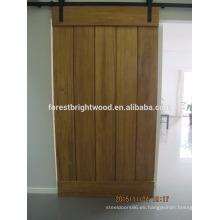 OPP puerta de granero interior corrediza de madera maciza