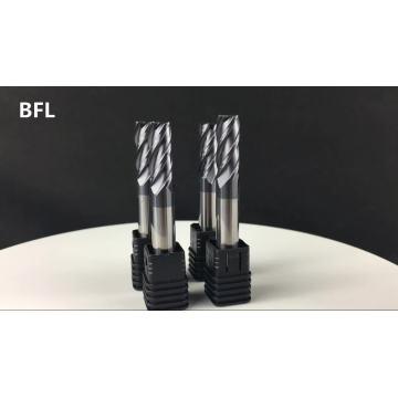 Fraises en bout plates de 8 mm de carbure monobloc BFL D8 * FL20 * 60L * 4F