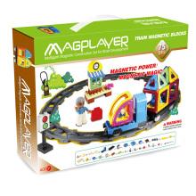 DIY inteligência educativa Kids brinquedos magnéticos Train Set 75 PCS