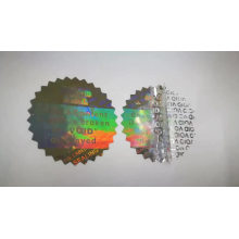 Custom VOID Anti- counterfeiting Packaging Stickers 3D Hologram Sticker Label