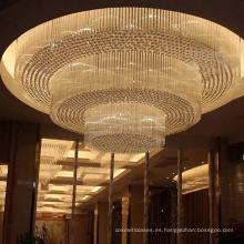 Lámpara de techo de encargo grande del oro del restaurante del hotel de lujo