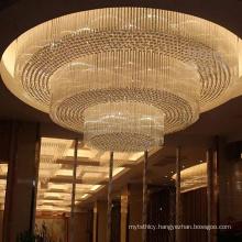 Luxury hotel restaurant gold big custom ceiling lamp