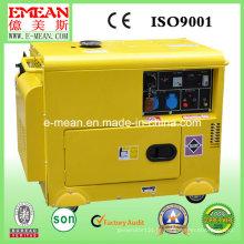 Gerador diesel trifásico refrigerar à prova de som de quatro cursos