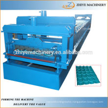 Colored Coated Steel Glazed Roofing Tile Roll Forming Machine