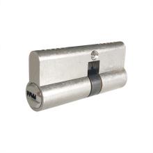 Cilindro de fechadura europeia de dupla face banhada a níquel