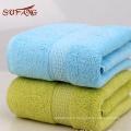 Usage domestique coloré jacquard satin gear turc coton serviette set