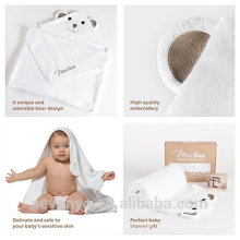 China factory Sevenyo hot sell high quantity bear 100% soft Bamboo Hooded Baby Towel and Washcloth Set Great For Newborns