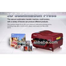 Máquina de la prensa del vacío de la sublimación 3D venta caliente