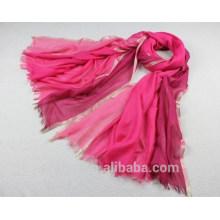 100% viscosa bufanda metálica lurex moda