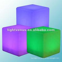 Discoteca de carga de inducción de 30cm, mesa auxiliar LED de discoteca