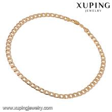 43903 bijoux en or africains vente chaude 18k mode hip hop style épais plaqué or bijoux collier