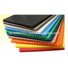 2мм до 10мм полипропиленовый лист материала PP гофрированный