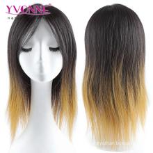 Ombre Couleur brésilienne pleine perruque droite perruque de cheveux