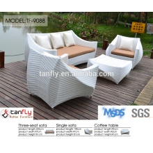 outdoor l shaped sectional rattan sofa set
