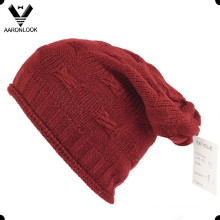 100% Acrílico Roll Edge Knit Crochet Hat