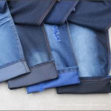 Tissu de denim floqué de coton de 8oz ~ 13oz pour des jeans