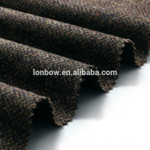 100% wool tweed cap fabric brown herringbone design made in China