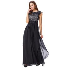 Kate Kasin Manteau à capuche V-Back Lace Chiffon Long Evening Prom Dress Party KK000167-1