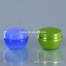 Frasco de crema de plástico crema cosmética tarro vacío PS PET PP maquillaje botella de cosméticos cuidado de la piel plástico china proveedor frascos