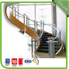 Staircase Handrail with Glass