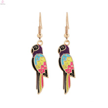 Nepal Alloy Pendant Bird Ethnic Animal Parrot Earrings