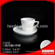 250ml coffe cup and saucer for hotel and restaurant