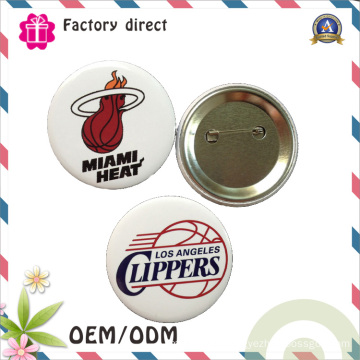 Wholesale Metal safety Pin Back Advertising Promotions 58mm Tin Button Badge