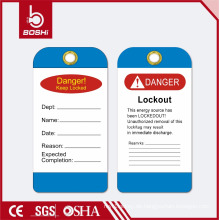 BOSHI BD-P11 Sicherheitsschloss für die industrielle Sicherheit, PVC-Tag