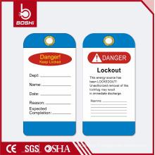 BOSHI BD-P11 étiquette de verrouillage de sécurité pour sécurité industrielle, étiquette de PVC