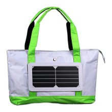 2017 China manufacuturer 5W single shoulder solar panel carry charger bag