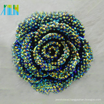Hot sale beads flat back resin plastic rhinestone flower