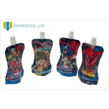 Aluminum Foil Stand Up Pouch With Spout , Printed Shampoo Doypack Packaging