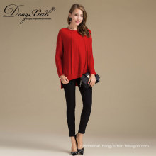 Hot Sale Winter Oem Grey Cable O-Neck Heavy Knitted Winter Pullover Cashmere Wool PatternSweaters For Women