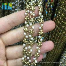 XULIN nuevo diseño perla cadena metal alambre rosario cuentas cadena