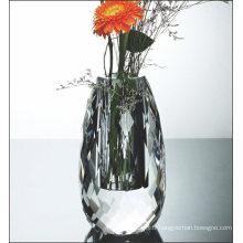 Vase à fleurs en verre