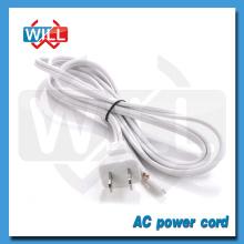 Fábrica CUL de UL 2pin blanco nispt-2 cable de alimentación