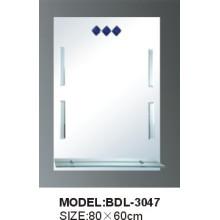 Espelho de vidro do banheiro da prata da espessura de 5mm (BDL-3047)
