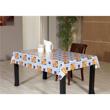 Plain Style and Wedding, Home, Banquet, Party, Hotel Use PVC Printed Transparent Tablecloth