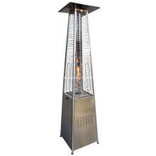 Pirámide de calentador de patio de acero inoxidable para exteriores de GLP de lujo