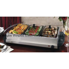 Stainless-Steel Buffet Server and Warming Tray