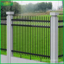 Фарфор оптом кованое железо ограждение, цинковая стальная ограда