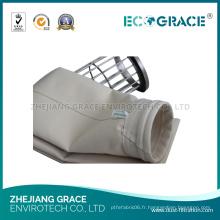 Sachet de filtre de la poussière matérielle de PPS de feutre d'aiguille de PPS adapté aux besoins du client pour l'incinérateur