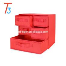 3 Shelf 5 Drawer Underwear Socks Sundries Folding Fabric Drawer Foldable Storage Box