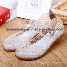 Lady Latest High Quality Crystal Jelly Sandals (FF614-5)